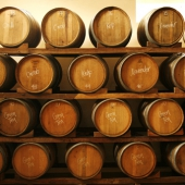Natural fermentation of vinegar in barrels